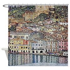 Klimt Malcesine on Lake Garda Shower Curtain