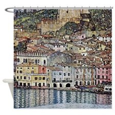 Klimt Malcesine on Lake Garda Shower Curtain