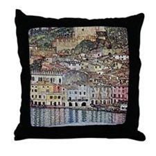 Klimt Malcesine on Lake Garda Throw Pillow