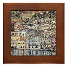 Klimt Malcesine on Lake Garda Framed Tile
