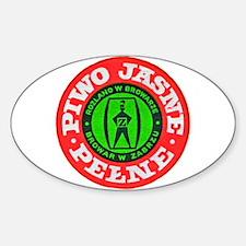 Poland Beer Label 5 Sticker (Oval)