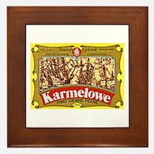 Poland Beer Label 4 Framed Tile