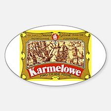 Poland Beer Label 4 Sticker (Oval)