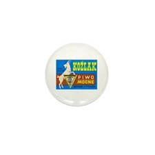 Poland Beer Label 3 Mini Button (10 pack)