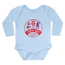 Poland Beer Label 2 Long Sleeve Infant Bodysuit