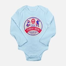 Poland Beer Label 2 Long Sleeve Infant Bodysuit