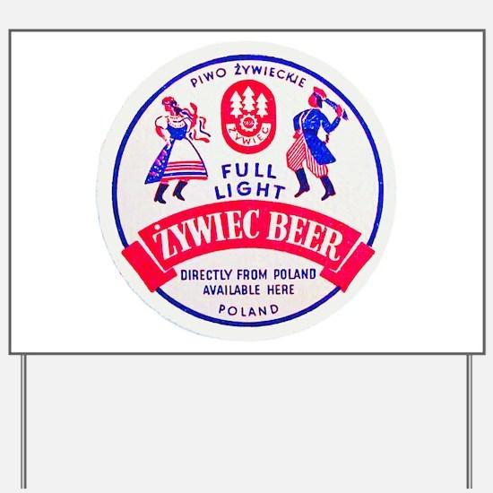 Poland Beer Label 2 Yard Sign