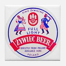 Poland Beer Label 2 Tile Coaster