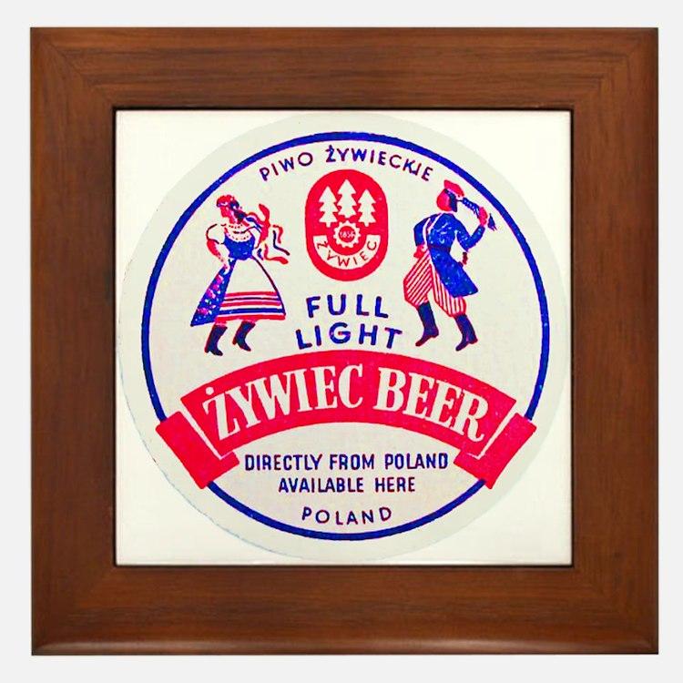 Poland Beer Label 2 Framed Tile