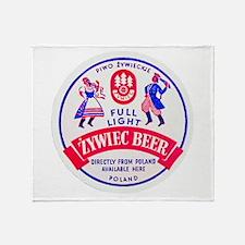 Poland Beer Label 2 Throw Blanket