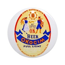 Poland Beer Label 1 Ornament (Round)