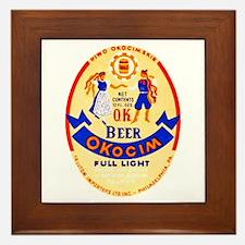 Poland Beer Label 1 Framed Tile