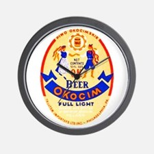 Poland Beer Label 1 Wall Clock