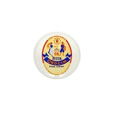 Poland Beer Label 1 Mini Button (10 pack)