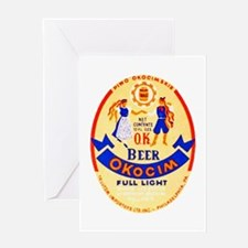 Poland Beer Label 1 Greeting Card