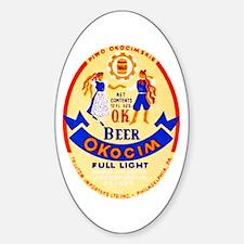 Poland Beer Label 1 Sticker (Oval)
