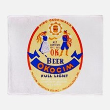 Poland Beer Label 1 Throw Blanket