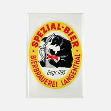 Switzerland Beer Label 6 Rectangle Magnet