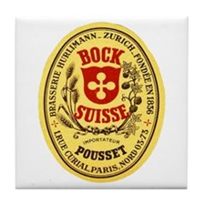 Switzerland Beer Label 5 Tile Coaster