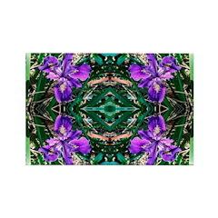 Flower Reflection Rectangle Magnet