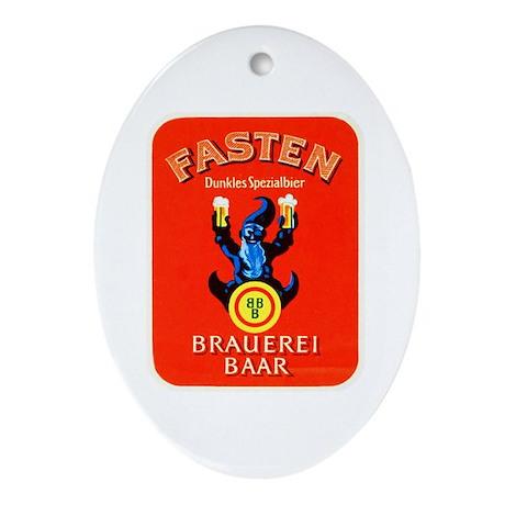 Switzerland Beer Label 3 Ornament (Oval)