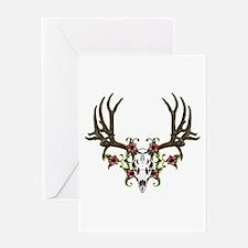 European mount mule deer Greeting Card