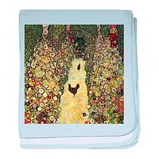 Gustav Klimt Garden Paths With Chickens baby blank