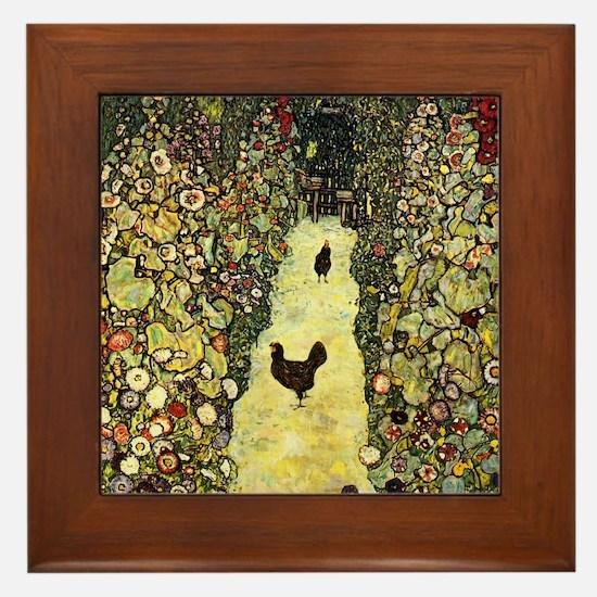 Gustav Klimt Garden Paths With Chickens Framed Til