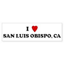 I Love SAN LUIS OBISPO Bumper Bumper Sticker