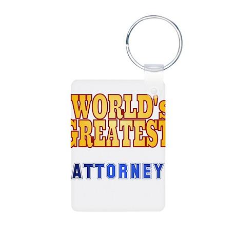 World's Greatest Attorney Aluminum Photo Keychain