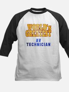 World's Greatest AV Technician Kids Baseball Jerse