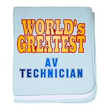World's Greatest AV Technician baby blanket