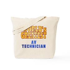 World's Greatest AV Technician Tote Bag