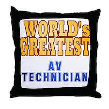 World's Greatest AV Technician Throw Pillow