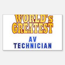 World's Greatest AV Technician Decal