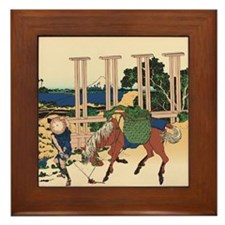 Hokusai Senju Musashi Province Framed Tile