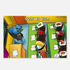 Sushi Bar Exam (raw Law?) Postcards (package Of 8)