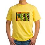 Sushi Bar Exam (Raw Law?) Yellow T-Shirt