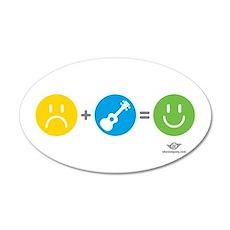 Happy Ukulele Wall Sticker