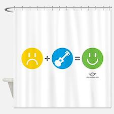Happy Ukulele Shower Curtain