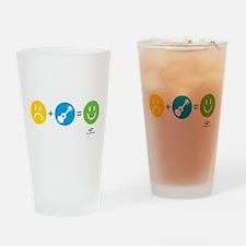 Happy Ukulele Drinking Glass