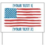 American flag Yard Signs