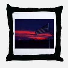 Stars and Stripes at Sunrise Throw Pillow