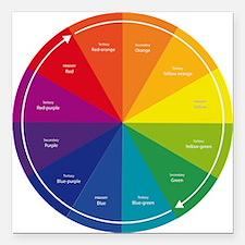 "The Color Wheel Square Car Magnet 3"" x 3&quot"