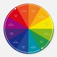 The Color Wheel Round Car Magnet