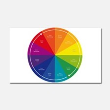 The Color Wheel Car Magnet 20 x 12