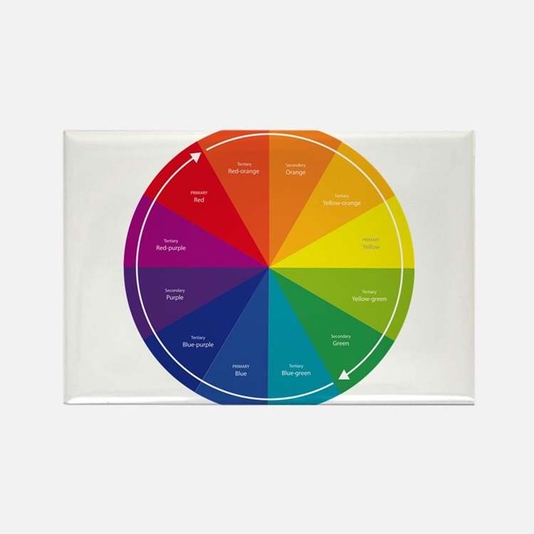 The Color Wheel Rectangle Magnet