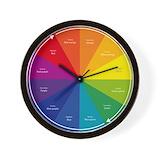 Color wheel Wall Clocks