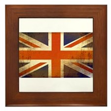 Grungy Union Jack Framed Tile