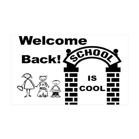 Back to Cool School 35x21 Wall Decal
